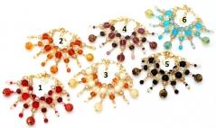Vac/B9482 Браслет Play с подвесками 6 цветов муранское стекло