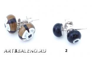 арт. TO-IV/1 Серьги из мурринок 10мм различные цвета