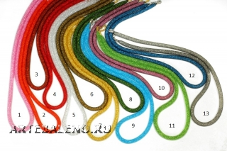 Ожерелье Венецианский бисер в сеточке 45см толщина 10-12мм различные цвета
