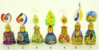 B01 (5) Флакончик Венецианский карнавал h8-14см серия Винтаж муранское стекло
