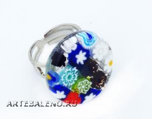 Арт.110 Кольцо круглое из муранского стекла