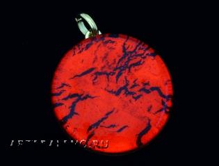 Арт.01 красный - подвеска диам.3,2 см муранское стекло