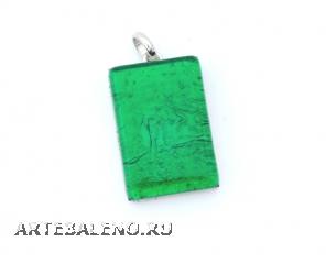 Арт. 02 зеленый - подвеска 2x3 см муранское стекло