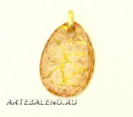 NV16 Подвеска Бонди' капля цвет розово-золотой муранское стекло