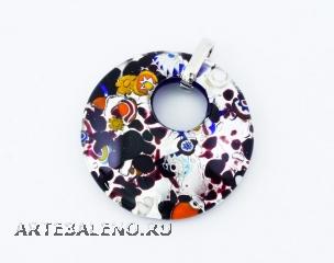 арт.239 Подвеска диам.5см из муранского стекла