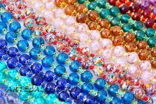 MosSMR/8 (2) Браслет с бусинами соммерсо 10 цветов муранское стекло