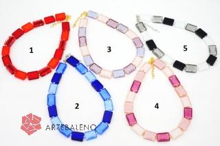 S1286 Колье Монпасье 5 цветов 45+5 см муранское стекло