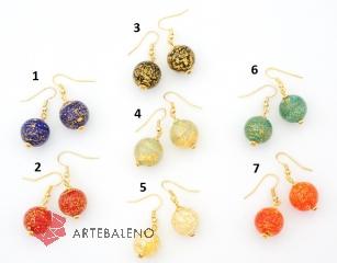 Vac/O14 (oro rotto) Серьги с золотой фольгой муранское стекло