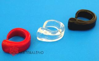 PM05 Кольцо Virgola муранское стекло