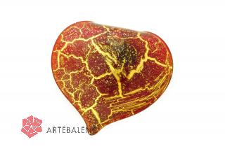 NV04 Подвеска Бонди' сердце цвет красно-золотой мураское стекло