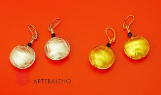 S547MOD Серьги Classic золото и серебро муранское стекло