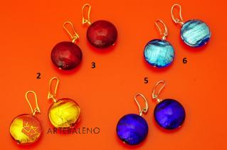 S1078/maz Серьги Simply различные цвета муранское стекло