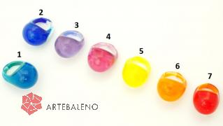 NV53 Кольцо Bright круглое 7 цветов муранское стекло