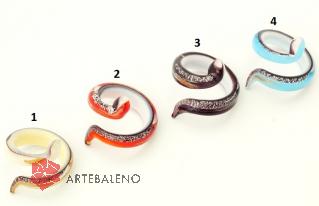 VB34 Кольцо-аксессуар Змейка 4 цвета муранское стекло