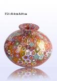 F21 Ваза-бутылка округлая диам.14 h10cm муранское стекло