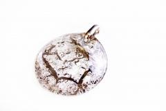NV02/2 Подвеска Бонди д.5 цвет платина муранское стекло