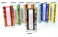 N51 Термометр настольный h 15см 8 цветов муранское стекло