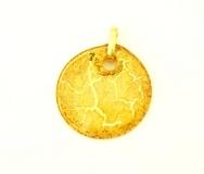 NV16 Подвеска Бонди' д.5 цвет золотой муранское стекло
