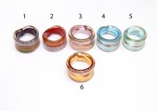 RD15-A Кольцо легкое 6 цветов муранское стекло