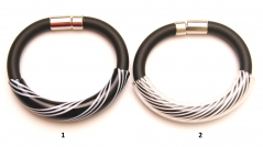 DM42b Браслет на каучуке Филигрань муранское стекло