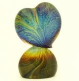 """TP12 Скульптура на подставке """"Сердце"""" 28cм с кальцедоном муранское стекло"""