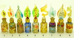 B01 (6) Флакончик Венецианский карнавал h8-14см серия Винтаж муранское стекло