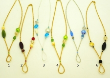 Ожерелье-колье для подвесок с бусинами ручной работы для подвесок 55см