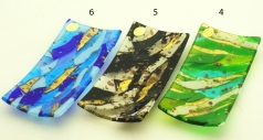 ISV25(2) Блюдце декоративное 20х10см 6 цветов муранское стекло