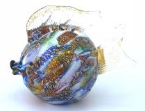 GRos Funny Zoo фигурка Рыба-мяч 10см муранское стекло