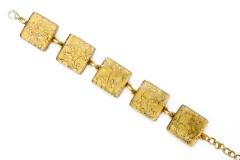 Арт.01 золотой - браслет с 5 элементами 2х2