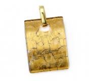 Арт.01 золотой - подвеска 3x4 см муранское стекло