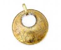 Арт.01 золотой - подвеска диам.5 см муранское стекло