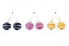 RC05/maz Серьги круглые Апеннины 3 цвета муранское стекло