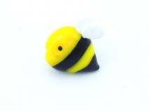 LV43 Брошь Пчелка 3,5 см муранское стекло