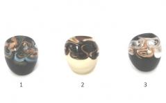 NV23 Кольцо шамаре' 3 цвета муранское стекло