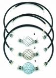 IC01 (01) Колье Дольче Вита с центральной крупной филигранной бусиной 3 цвета муранское стекло