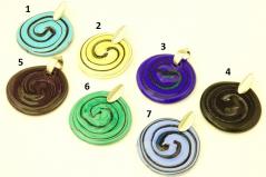 RS15 Подвеска Танец 9 цветов муранское стекло