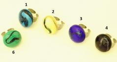RS15 Кольцо Танец 9 цветов муранское стекло
