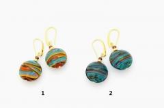 2016-19 Серьги Грета 2 цвета муранское стекло
