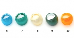 RD17 Кольцо Самоцветы (2) муранское стекло