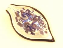 PM06 Подвеска Февраль муранское стекло