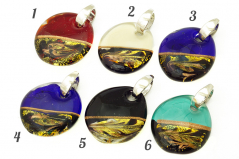 RD27 Подвеска крупная Олимп 6 цветов муранское стекло