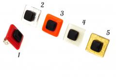 VB31 Кольцо Fashion квадратное муранское стекло