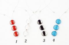 Vac/C9799 Колье Candy на бисере 4 цвета муранское стекло