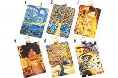 NV60 Подвеска 5х3,5см Реплики картин известных художников муранское стекло