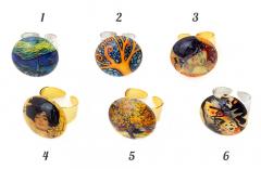NV60 Кольцо Реплики картин известных художников муранское стекло