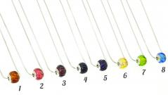 TR00(5) Бусина круглая в силе Пандора рифленая различные цвета на стальной цепочке муранское стекло